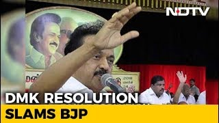 At DMK Meet, MK Stalin Takes Dig At Rajinikanth, Kamal Haasan