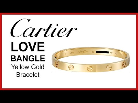 Cartier Love Bracelet, UNBOXING & REVIEW - Yellow Gold, Ladies Bangle, B6036017