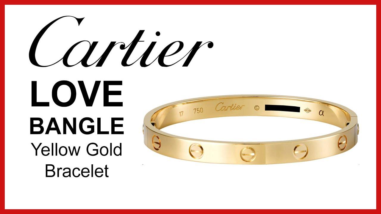 6f1130a492e8e Cartier Love Bracelet, UNBOXING & REVIEW - Yellow Gold, Ladies Bangle,  B6036017