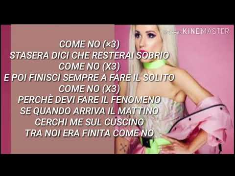 Baby K - Come No (Testo Lyrics con Audio)
