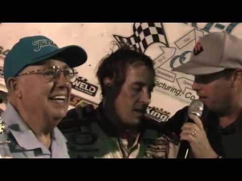 Tyler Walker in victorylane at Marysville Raceway