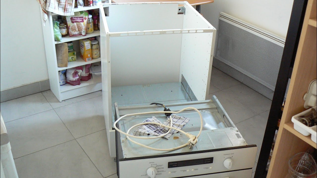 Installer Frigo Encastrable Ikea how to fix a built-in oven on a piece of furniture