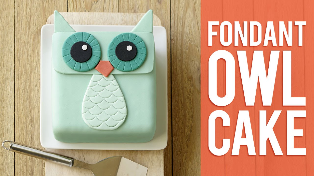 How To Make A Fondant Owl Cake Youtube
