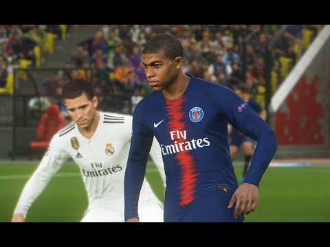 [PC] Mbappé vs Real Madrid - Gameplay Nouveaux Maillots 2019 PES 2018