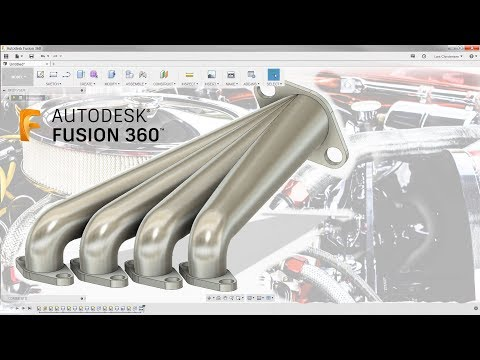 3D Sketch & How To Model an Exhaust Manifold — Fusion 360 Tutorial — #LarsLive 134