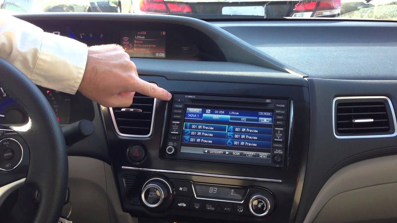 2013 Honda Civic - Radio, Audio, SMS Text message set up ...