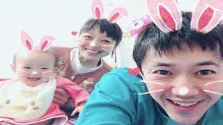 「うちの娘のハイハイが変わってる」 森渉と金田朋子の長女、個性的なハ...