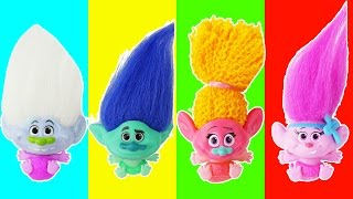 Baby trolls play matching game
