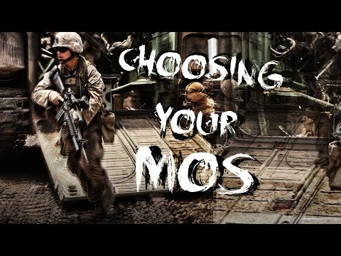 Choosing your Military Occupational Specialty (MOS)