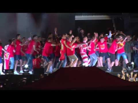 Ascens del Girona FC a Primera Divisió. Vídeo de la festa a la Copa