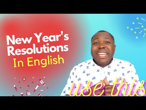 English Phrases For New Year's Resolutions   Useful English Expressions   To Start Your New Year.
