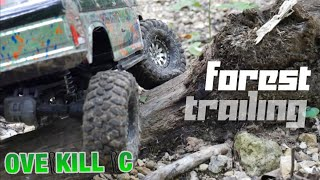 Ford Bronco Traxxas TRX-4 Trail Driving in the Forest | Edit | Overkill RC