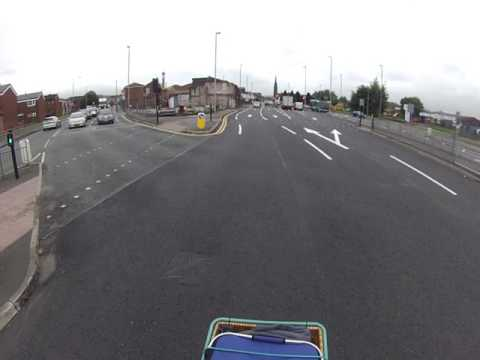 Avoiding Bolton Council's repainted suicide lane.