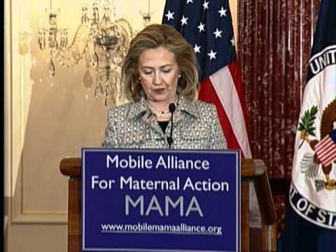 Secretary Clinton Unveils the Mobile Alliance for Maternal Action Partnership