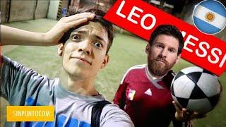 Jugando fútbol con Leo Messi en Argentina...