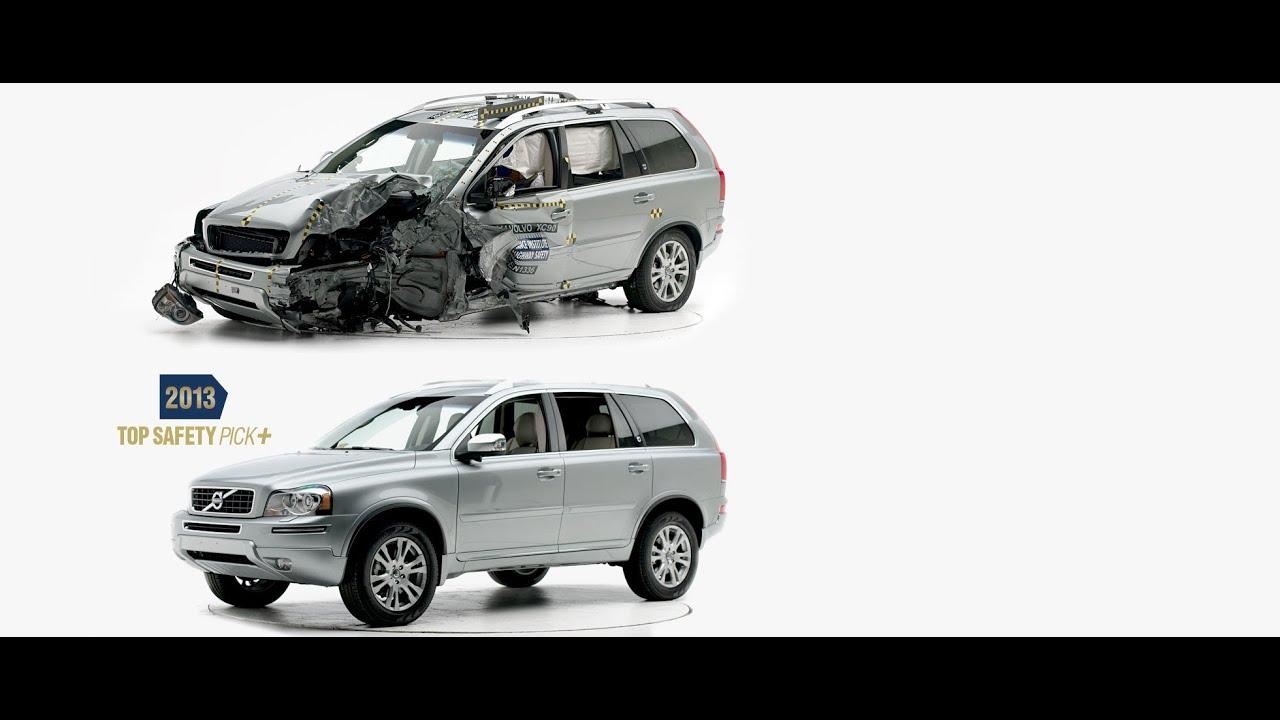 IIHS  2014 Volvo XC90  small overlap crash test  GOOD