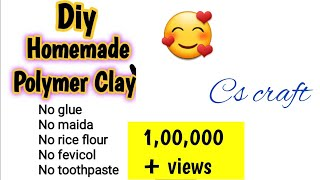 Diy make play doh clay at home without Glue, maida ,rice flour-Super soft clay diy