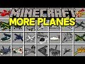 Minecraft MORE PLANES MOD! | FLY 100+ NEW PLANES, PRIVATE JETS, & MORE! | Modded Mini-Game