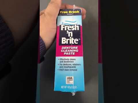 B00ANSU3LU Fresh 'n Brite Denture Cleaning Paste, Minty Gel, 3.8 Ounce Tube Pack of 3, Cleans, White