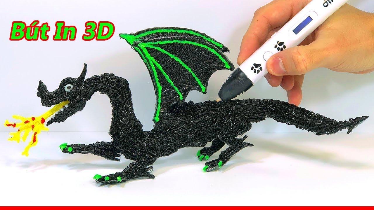 Vẽ Rồng bằng Bút  3D  – Test Bút  Vẽ 3D