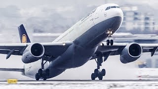 AIRBUS A330 near TAILSTRIKE during DEPARTURE (4K)