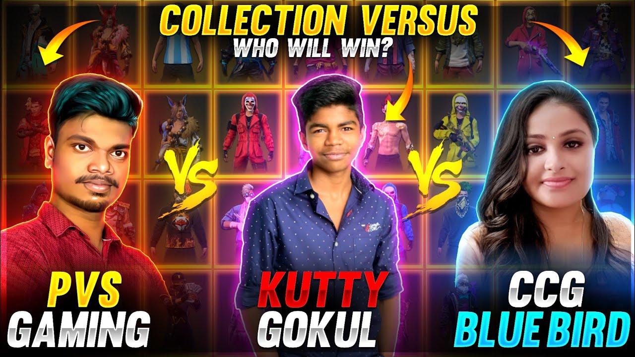 ?போச்சே?!! CCG BLUE BIRD vs KUTTY GOKUL vs PVS GAMING Tamilnadu Richest Rare Collection Battle Video