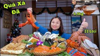 Chất Hết Nấc Với Mâm Hải Sản & Mực Siêu To Khổng Lồ Ăn Mừng 2 Trong 1 #442