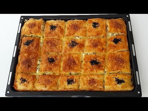 5 Dakikada Hazır Yufkadan Su Böreği Lezzetinde Tepsi Böreği-Börek Tarifleri-Gurbetinmutfagi