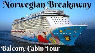 Norwegian Breakaway Balcony Cabin Room Tour