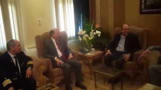 رئيس مصر للطيرا ن والطيارين والمضيفين والمضيفات فى زيارة الى قناة السويس الجديدة