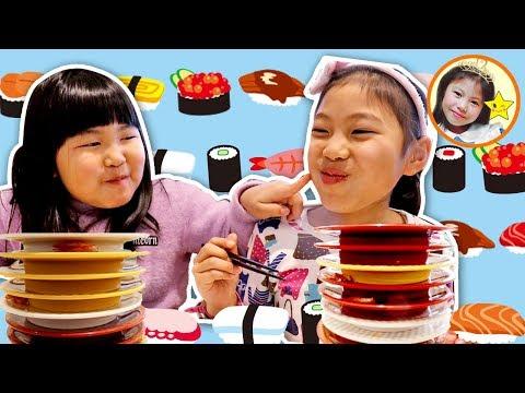 小学一年生コンビは回転寿司で何皿食べる?「子供あるある」まるで姉妹ケンカ とうとうママのお説教? お出かけ 食育 しつけ 学習 挑戦