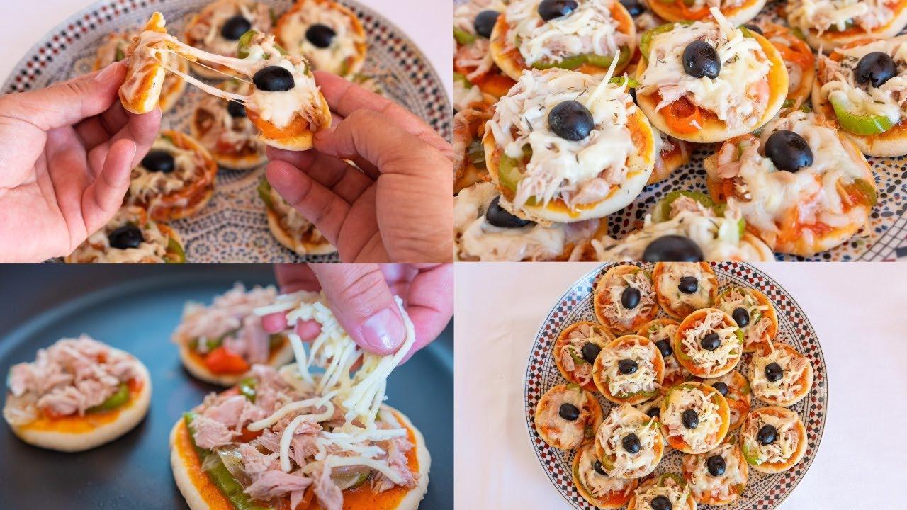 Mini pizza casera en la sartén.✅ Pizza Maison cuisson à la Poêle.