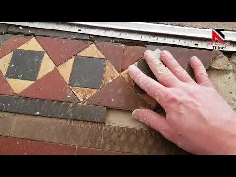 Victorian Tiled Hallway Restoration In Yorkshire England, (AMAZING TRANSFORMATION)