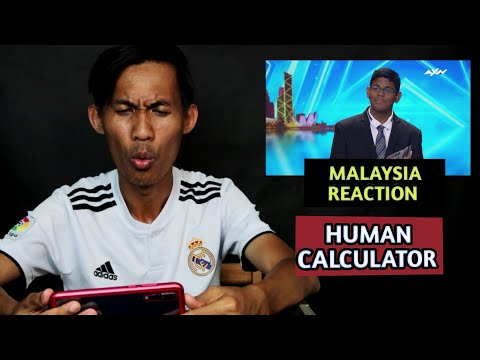 MALAYSIAN REACTION! HUMAN CALCULATOR ASIA'S GOT TALENT