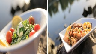 ارز بالجمبري صيادية - سمك بلطي حار - سلطة طماطم باللبنة | شبكة و صنارة حلقة كاملة