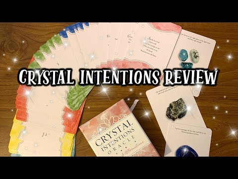 CRYSTAL INTENTIONS ORACLE GUIDANCE & AFFIRMATION CARDS REVIEW 🔮 HONEST OPINION & DECK FLIP THROUGH