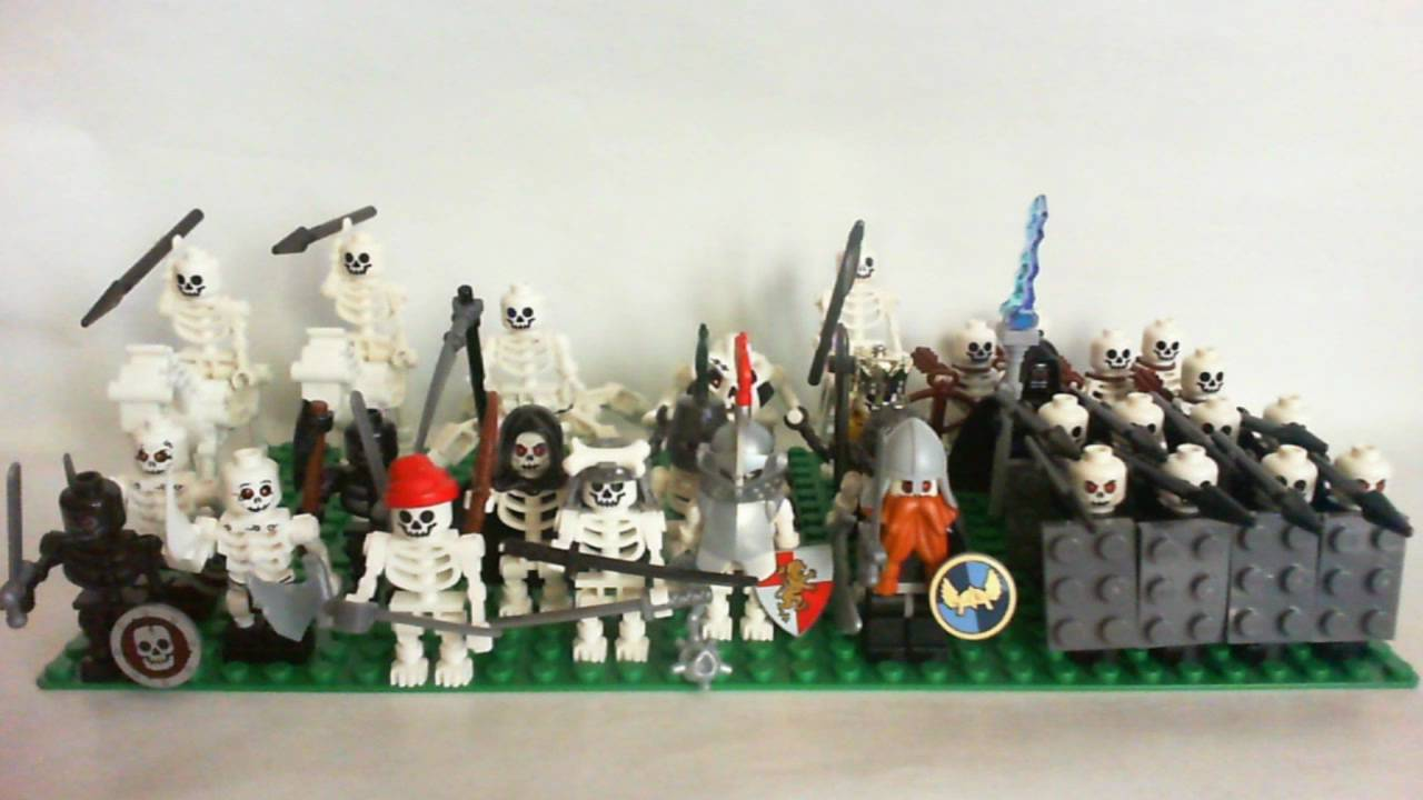 My Lego Castle Undead Skeleton Army As Of March 7 2011 Youtube