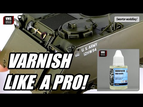 How to varnish a scale model - VMS Varnish HD Tutorial