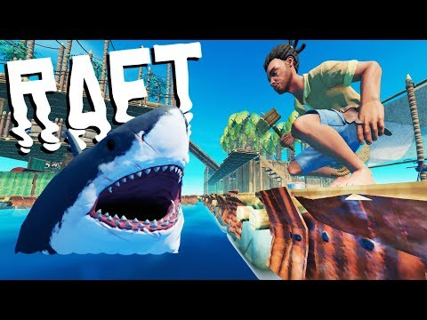 Shark Proofing And Armoring The Raft!! - Raft Gameplay