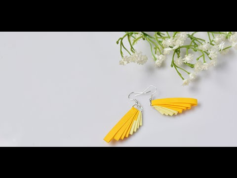 2e1666d47 Video Tutorial on How to Make a Pair of Easy Quilling Paper Earrings ...