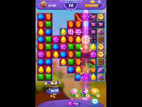 Candy Crush Friends Saga Level 854 - NO BOOSTERS 👩‍👧‍👦 | SKILLGAMING ✔️