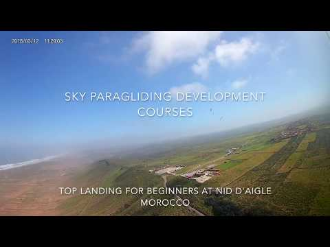 Easy Top Landing at Nid D'aigle Morocco with Sky Paragliding