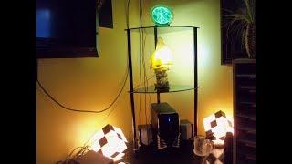 Assembling a 3-Tier Black Glass Corner Shelving