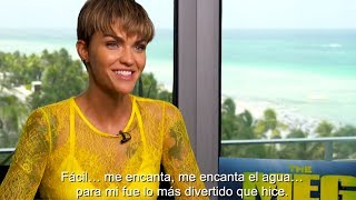 Ruby Rose talks about the real facts of Megalodon Sharks 'The Meg Movie'