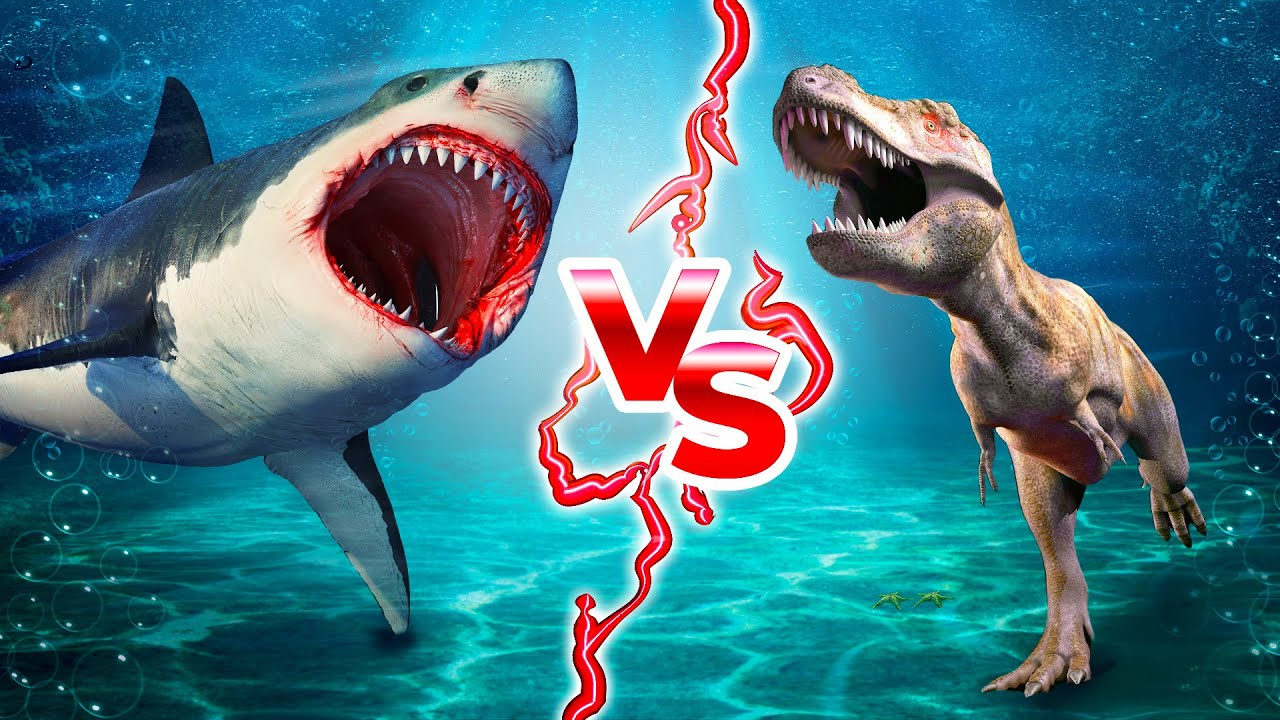 ماذا لو التقى الميغالودون بأكثر الديناصورات ترويعاً في التاريخ