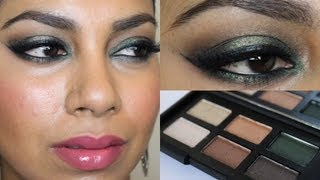 Green, Brown Smokey Eyes Using NARS Ride Up To The Moon Palette