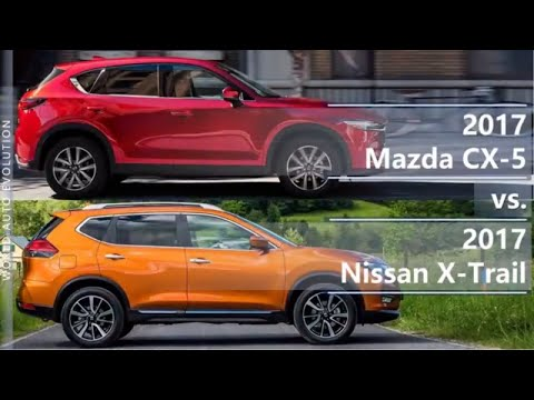 2017 Mazda CX-5 vs 2017 Nissan X-Trail (technical comparison)