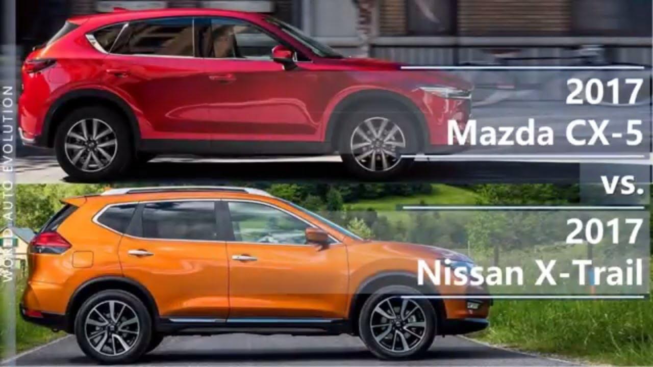 2017 mazda cx 5 vs 2017 nissan x trail technical comparison youtube. Black Bedroom Furniture Sets. Home Design Ideas
