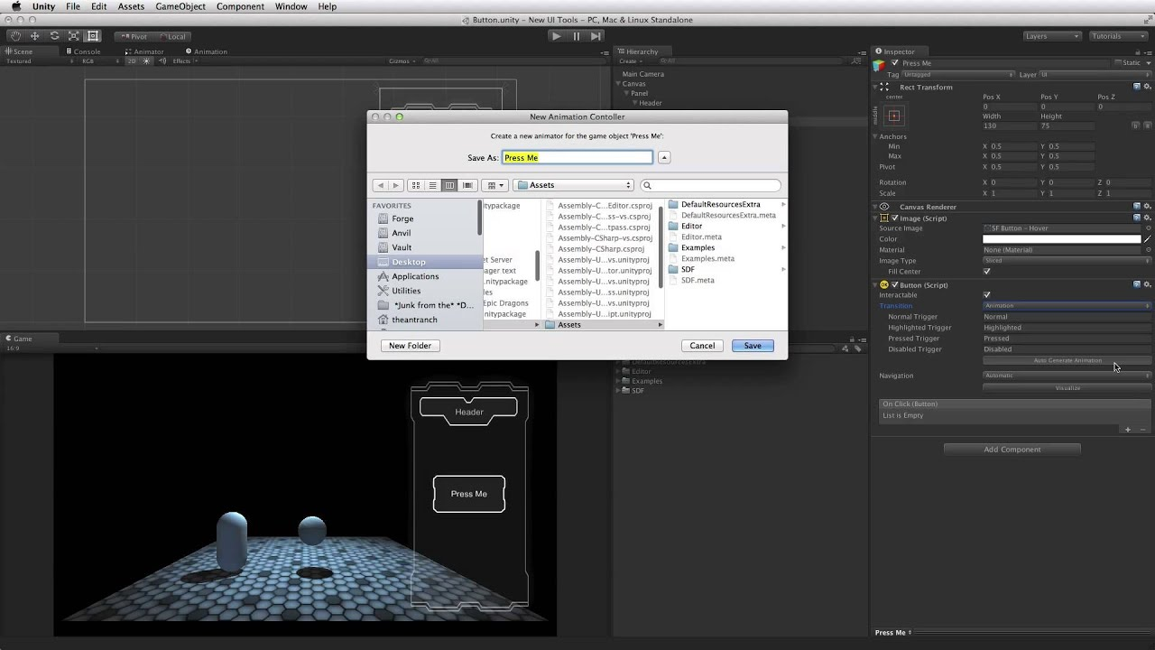 UI Button - Unity Official tutorials