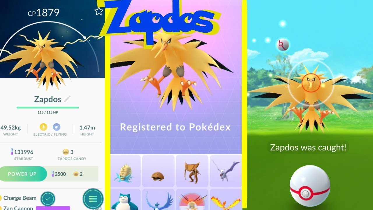 how to get a zapdos pokemon go